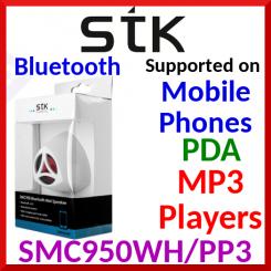Santok Bluetooth Portable 2-way Speaker - Speak & Listin - White - Special Price