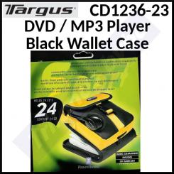 Targus DVD / MP3 Player Black Wallet Case CD1236-23 - DVD Player, MP3 Player, Multifunction Phone + for 24 CD / DVD or SD Cards