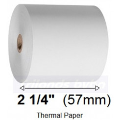 Thermal Paper Roll 57mm X 57mm X 12mm - Standard (EC-Cash) Quality - Lenght ca. 40 Meters