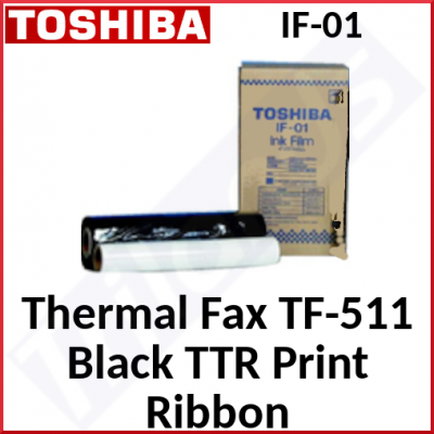 Toshiba TF-511 Thermal Fax Original Ribbon IF-01 (1 X Fax Roll of 300 Pages)