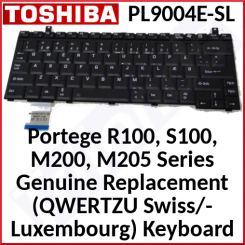 Toshiba Portege Genuine Replacement (QWERTZU Swiss/Luxembourg) Keyboard (PL9004E-SL) for Toshiba Portege M200, M205-S809, M205-S810, R100, S100 Series - Special Clearance Price