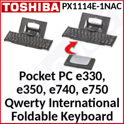 Toshiba Foldable Black / Silver Genuine (Qwerty International) Keyboard PX1114E-1NAC - Special Clearance Price