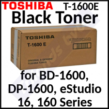 Toshiba T-1600E (2-Pack) Black Original Toner Cartridges (2 X 5000 Pages) - Special Clearance Price