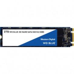WD 500 GB Blue 3D NAND SATA SSD Solid state drive WDS500G2B0B - 500 GB - internal - M.2 2280 - SATA 6Gb/s