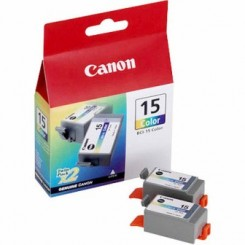 Canon BCI-15 TriColor Ink Twin Pack - 2 X 7.5 Ml. Cartridges - for i70, i80, iP90